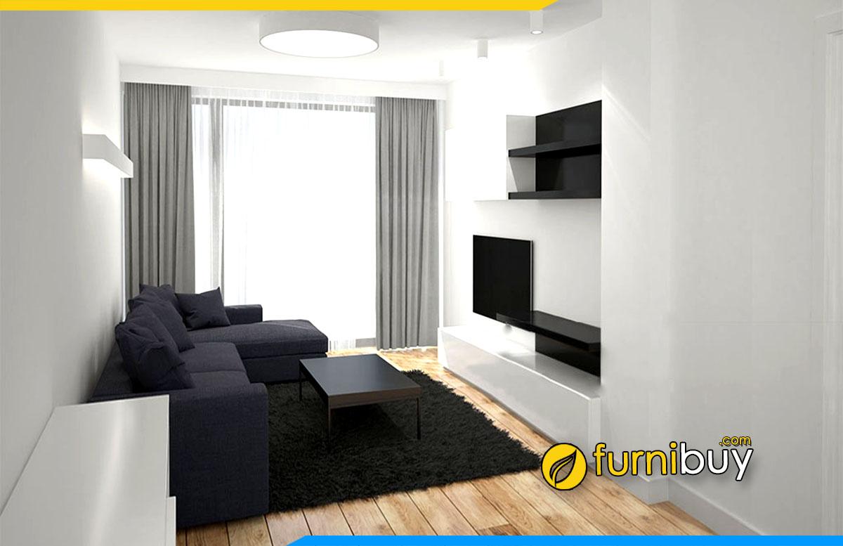 Hình ảnh Mẫu kệ tivi thông minh ghép nội thất phòng khách hiện đại