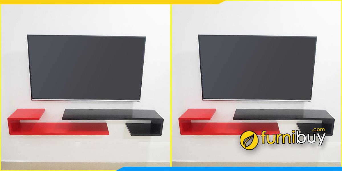 Hình ảnh Mẫu kệ tivi treo tường hình chữ J đẹp giá rẻ