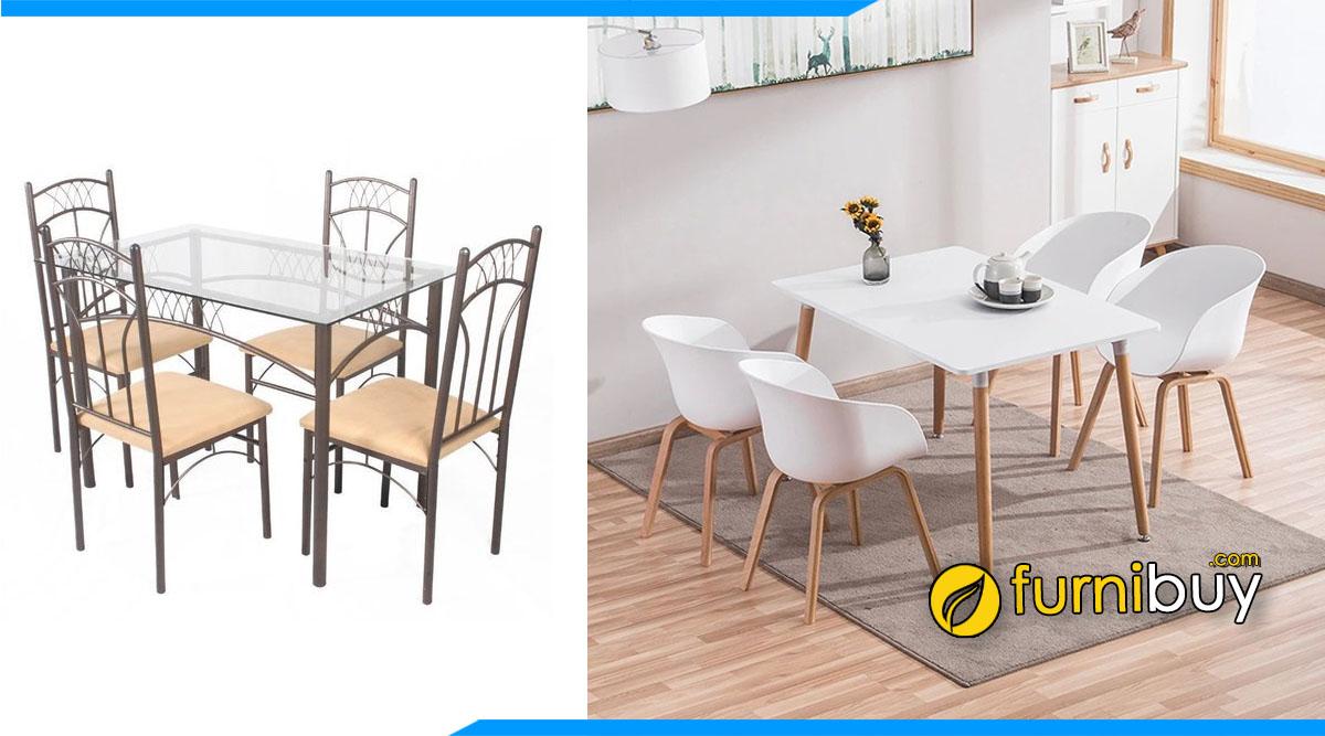 Nên mua bàn ghế ăn Inox hay bàn ghế ăn hiện đại