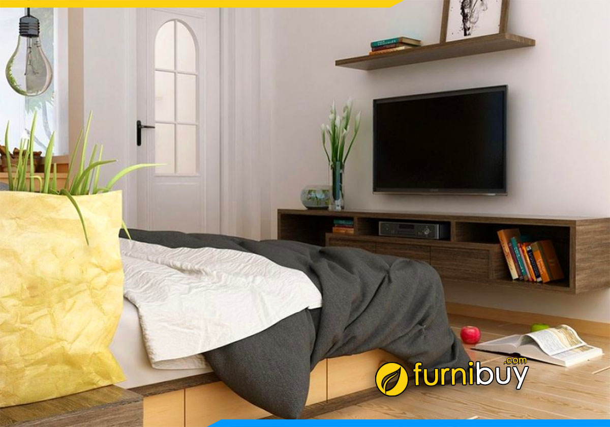 Hình ảnh Mẫu kệ tivi phòng ngủ đẹp nhất năm