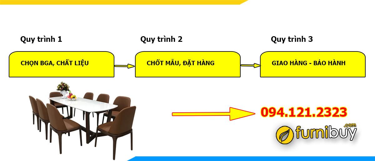 Quy trình làm bàn ghế ăn theo yêu cầu