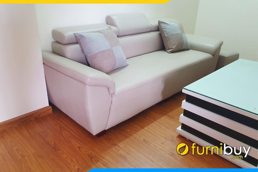 sofa da nho xinh cho nha chung cu mini