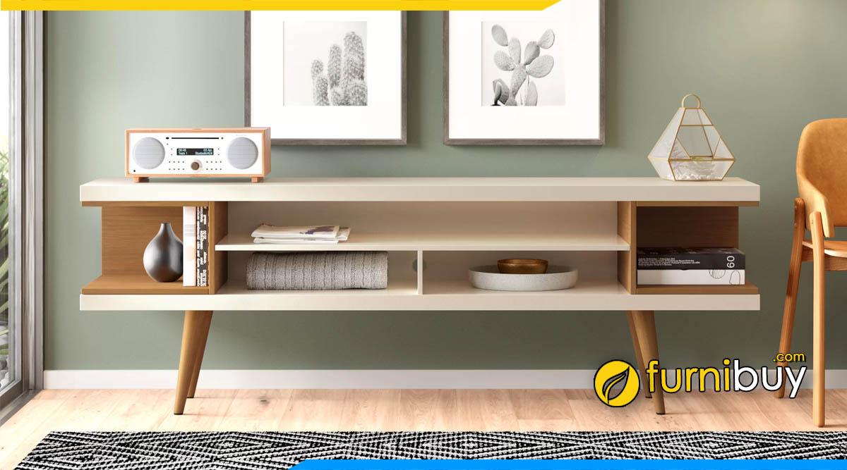 Hình ảnh Trang trí kệ tivi phòng ngủ kết hợp tranh đẹp