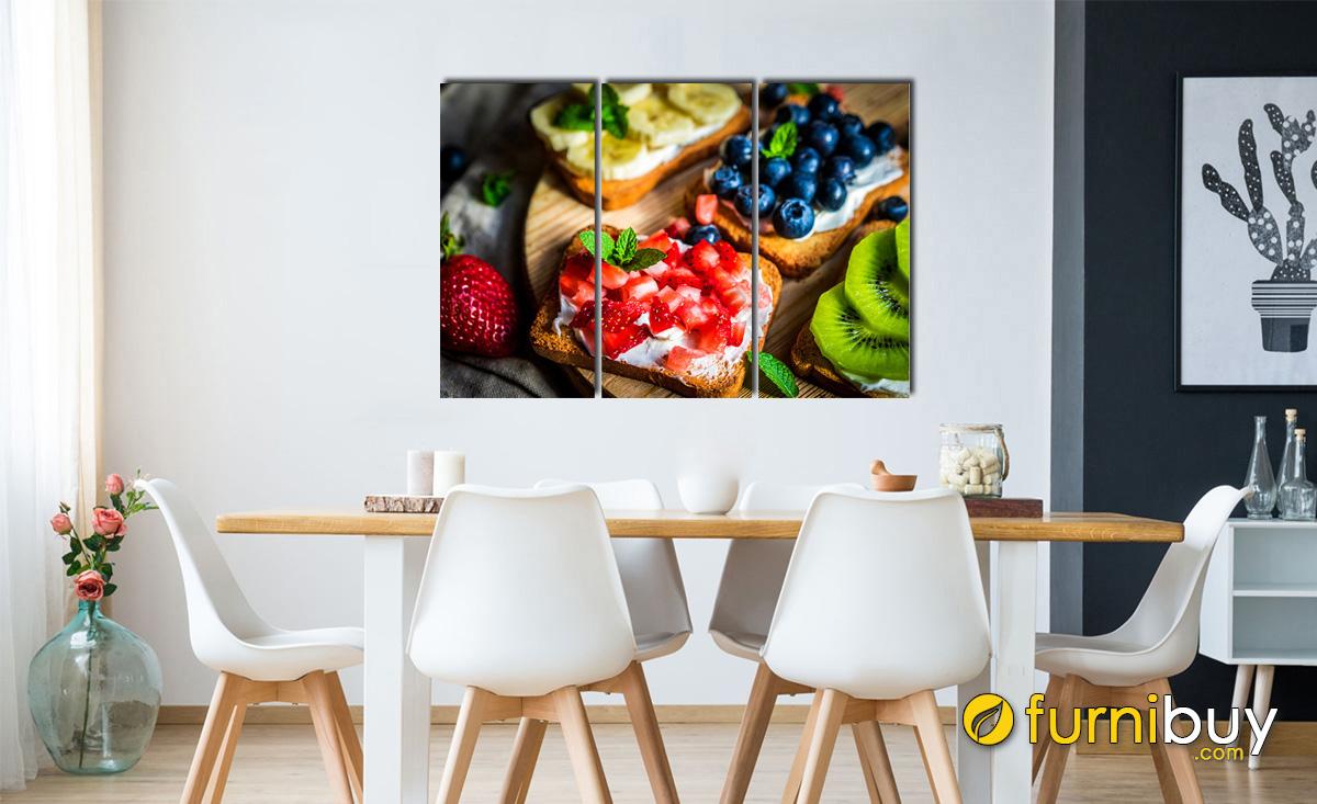 Hình ảnh Tranh đồ ăn treo tường phòng ăn nhà bếp đẹp