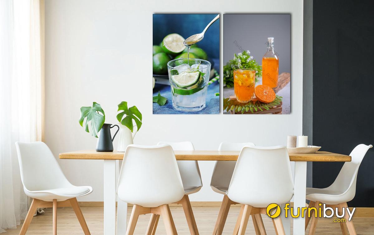 Hình ảnh Tranh đồ uống ở phòng ăn đẹp hiện đại nhìn mát mắt