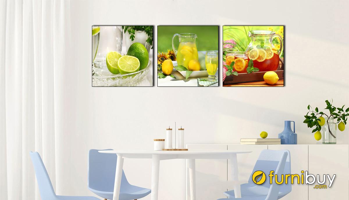 Hình ảnh Tranh đồ uống treo phòng ăn nhà bếp đẹp mã 1478