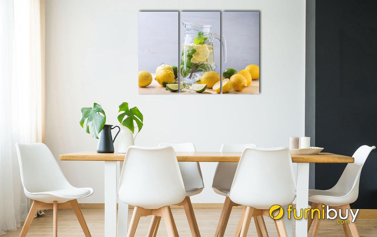 Hình ảnh Tranh đồ uống treo tường phòng ăn đẹp ghép bộ