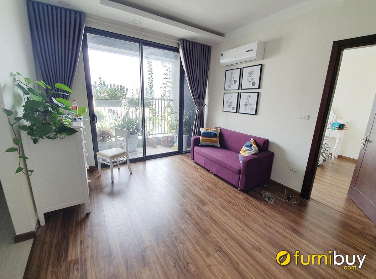 Hình ảnh Tranh ghép bộ in canvas treo phòng khách nhà cho thuê