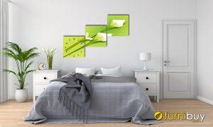 Hình ảnh Tranh hoa loa kèn sắc xanh cho người mệnh Mộc treo phòng ngủ mã 595