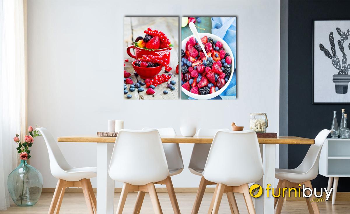 Hình ảnh Tranh hoa quả căng mọng treo tường phòng ăn