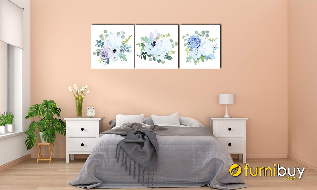 Hình ảnh Tranh hoa trang trí tường phòng ngủ mệnh Mộc đẹp