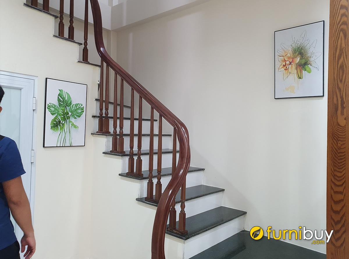 Hình ảnh Tranh lá cây trang trí nhà cho thuê đẹp hiện đại