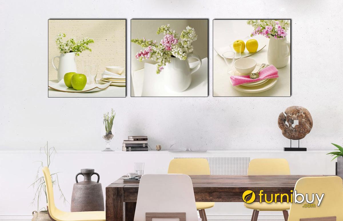 Hình ảnh Tranh lọ hoa trang trí treo phòng ăn nhà bếp đẹp mã 1088