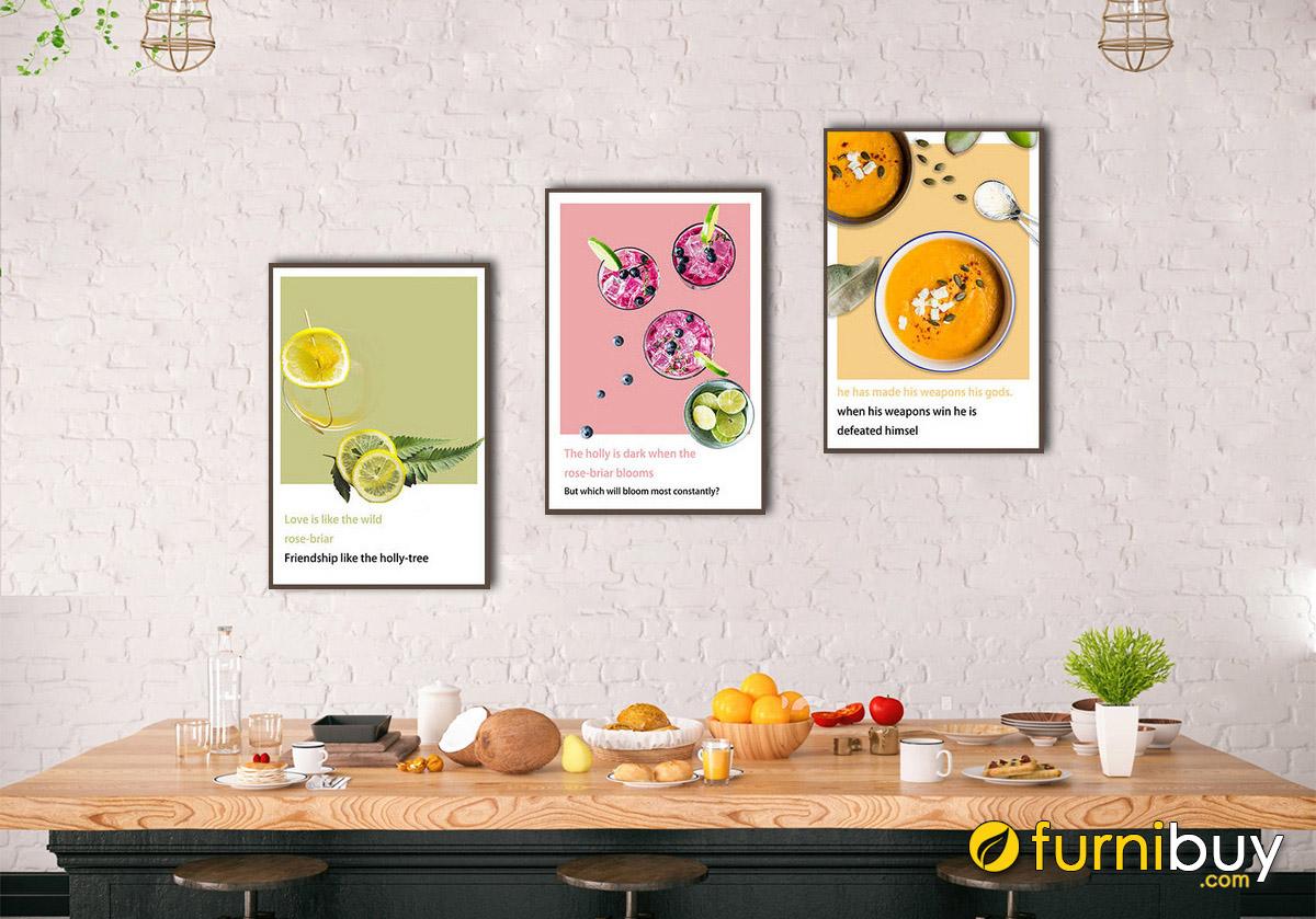 Hình ảnh Tranh phong cách Bắc Âu treo tường phòng ăn nhà bếp