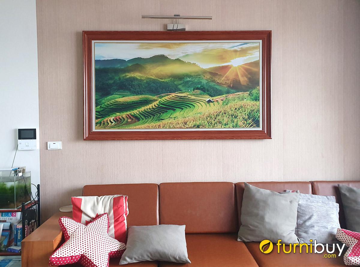 Hình ảnh Tranh phong cảnh ruộng bậc thang treo tường phòng khách