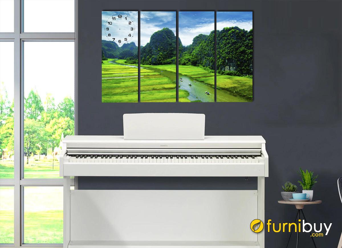 Hình ảnh Tranh phong cảnh thiên nhiên treo trên đàn piano mã 165
