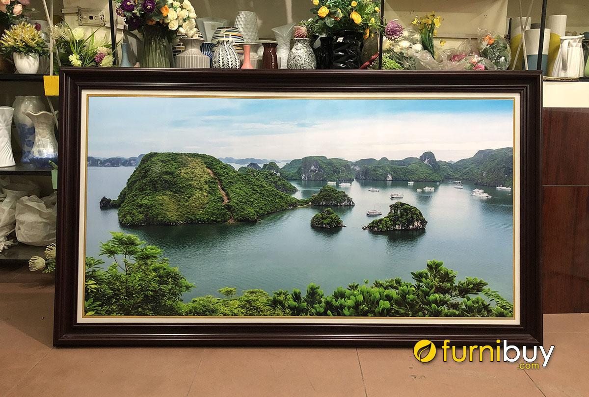 Hình ảnh Tranh phong cảnh Vịnh Hạ Long khổ lớn treo phòng khách đẹp