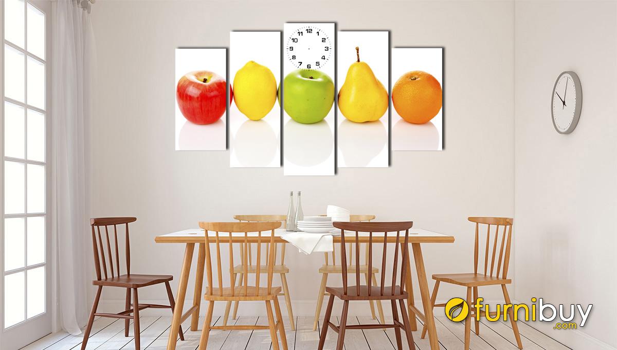 Hình ảnh Tranh quả treo phòng ăn hiện đại mã 148