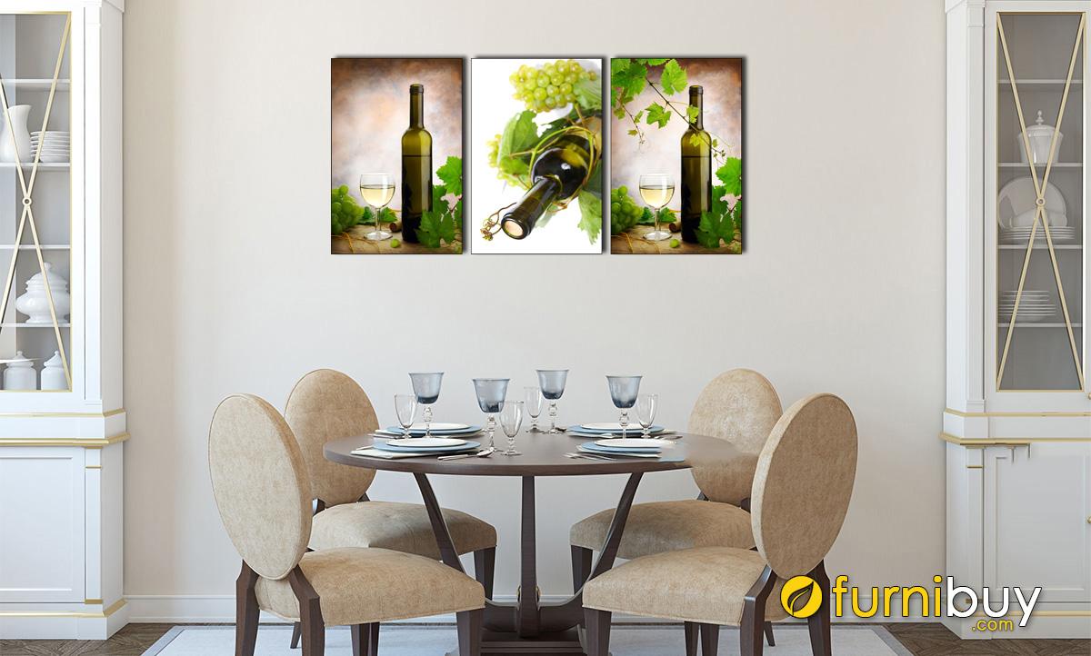 Hình ảnh Tranh rượu treo tường phòng ăn đẹp hiện đại mã 1475