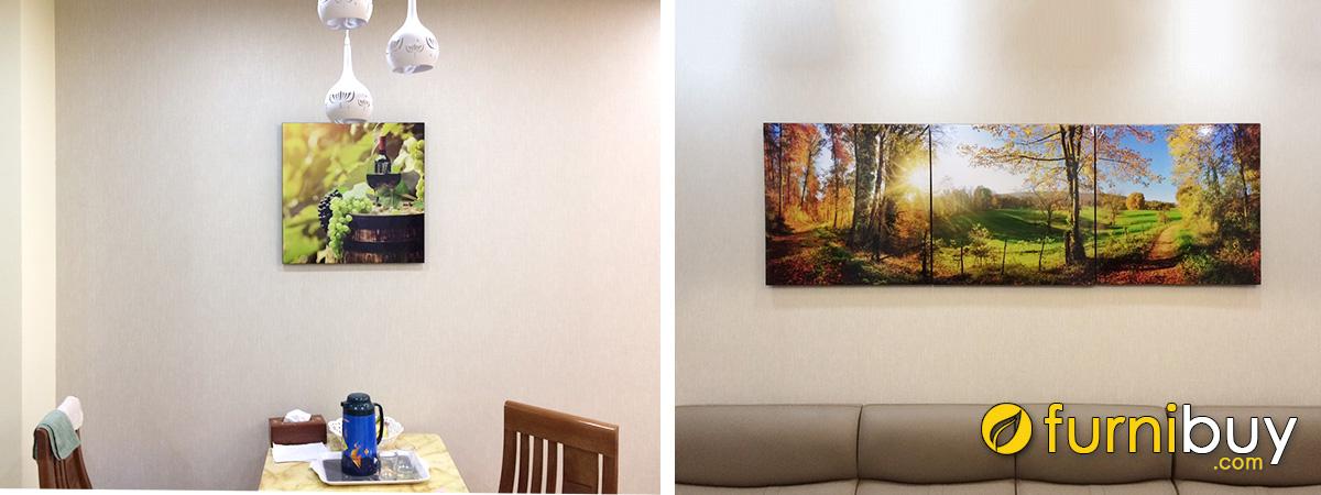 Hình ảnh Tranh rượu vang và tranh phong cảnh treo tường đẹp