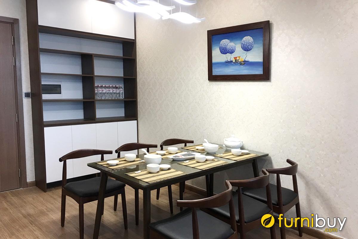 Hình ảnh Bức tranh sơn dầu treo tường phòng ăn nhà bếp đẹp