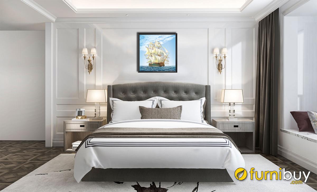 Hình ảnh Tranh thuyền biển treo phòng ngủ cho người mệnh Mộc mã 1340