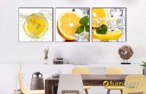 Hình ảnh Tranh trái cam treo tường phòng ăn đẹp mã 1477
