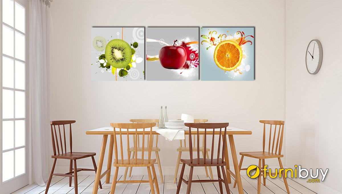 Hình ảnh Tranh trái quả treo tường nhà bếp phòng ăn đẹp mã 491