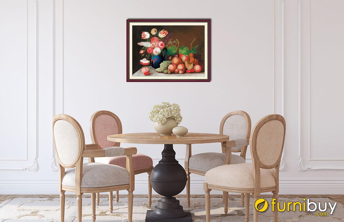 Hình ảnh Tranh trang trí phòng ăn đẹp giá rẻ sang trọng mã 1019