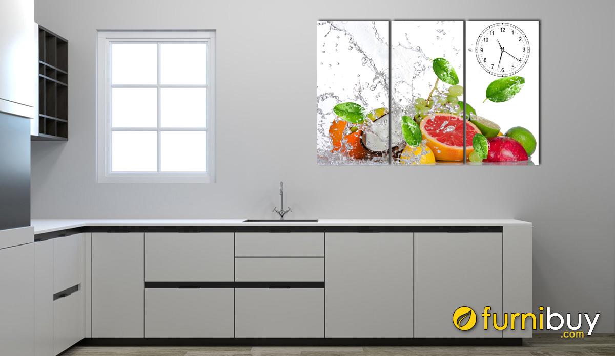 Hình ảnh Tranh treo nhà bếp đẹp sang trọng hình ảnh hoa quả mã 631