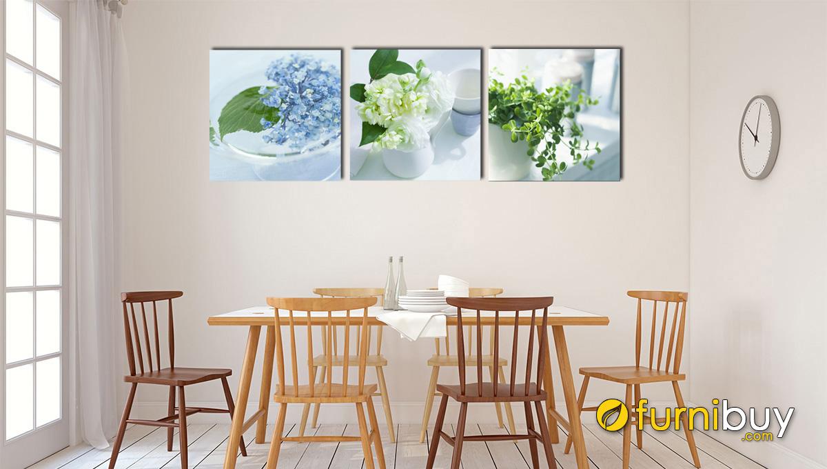 Hình ảnh Tranh treo ở phòng ăn bình hoa đẹp mã 1142