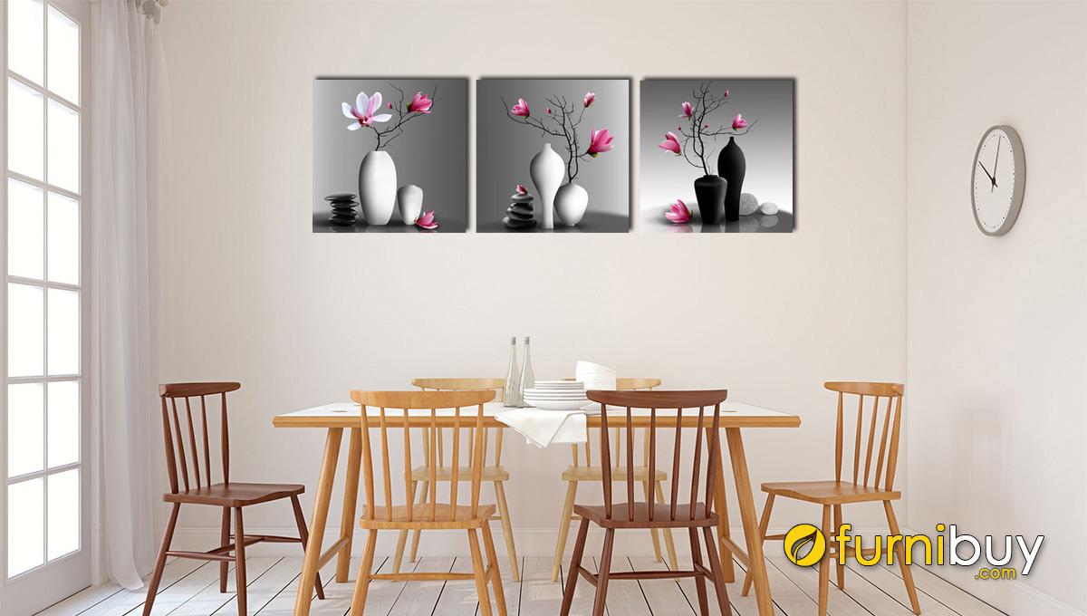 hình ảnh Tranh treo phòng ăn đẹp bình hoa mộc lan mã 1381