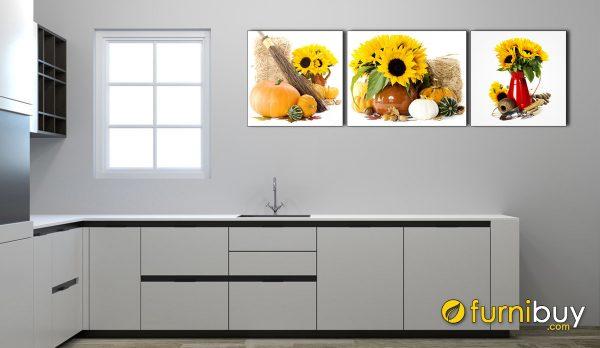 Hình ảnh Tranh treo phòng ăn đẹp bình hoa trang trí mã 627