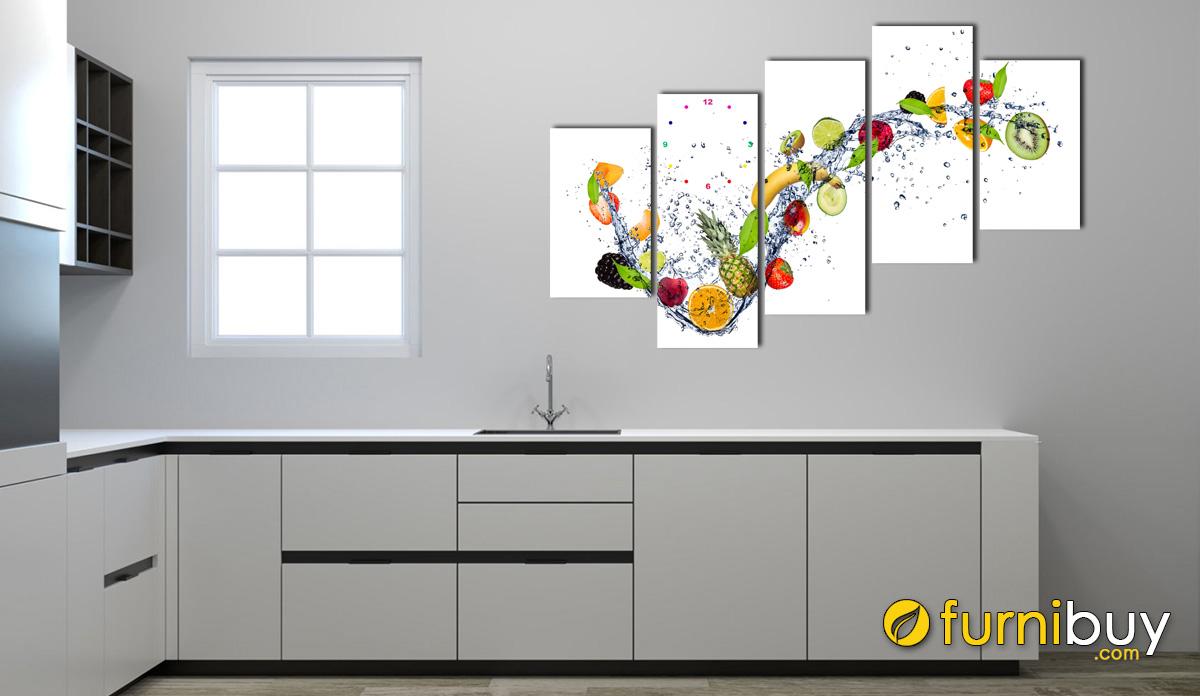 Hình ảnh Tranh treo phòng bếp đẹp hình ảnh hoa quả mã 975