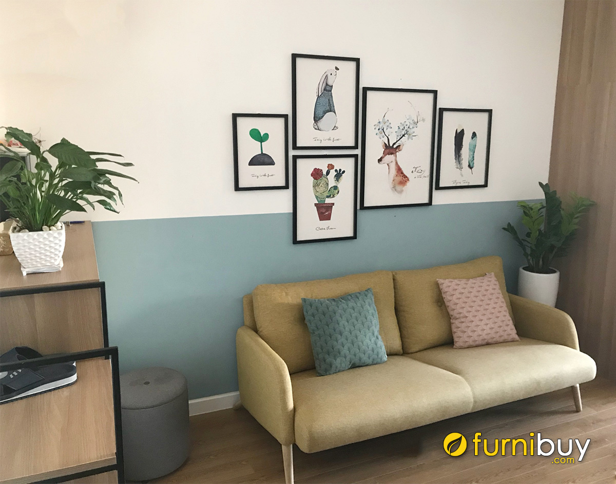 Hình ảnh Tranh treo phòng khách cho thuê đẹp hiện đại giá rẻ