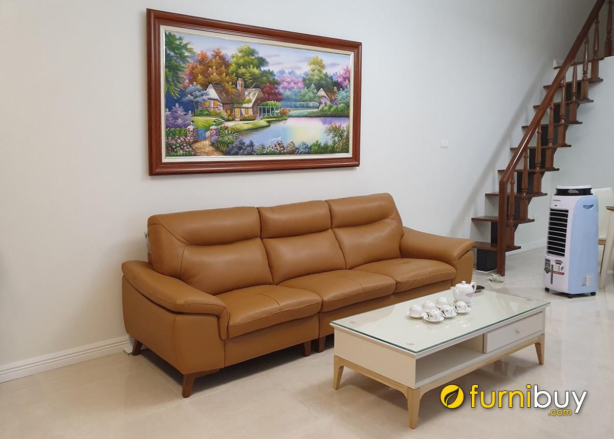 Hình ảnh Tranh treo trên sofa phòng khách phong cảnh ngôi nhà hạnh phúc
