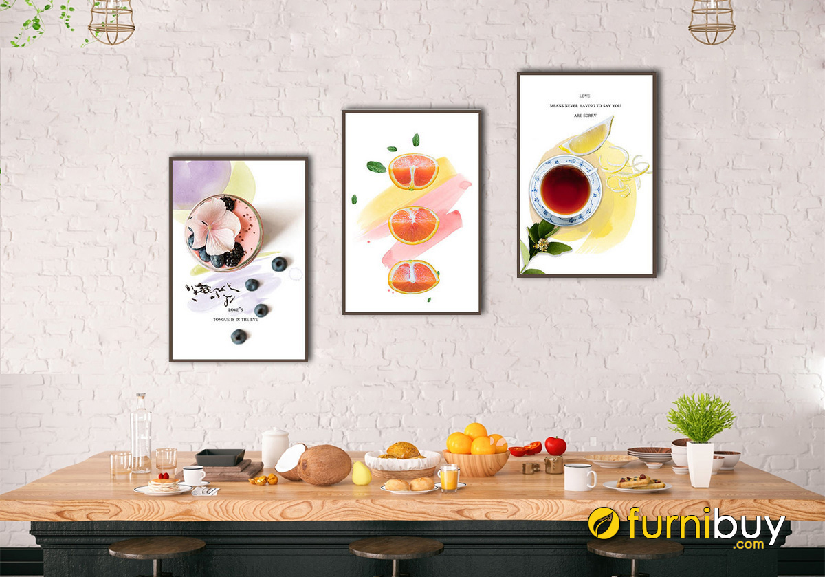 Hình ảnh Tranh treo tường phòng ăn đơn giản mà đẹp