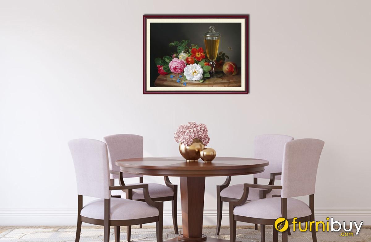 Hình ảnh Tranh treo tường phòng ăn giá rẻ dưới 500k mã 1018