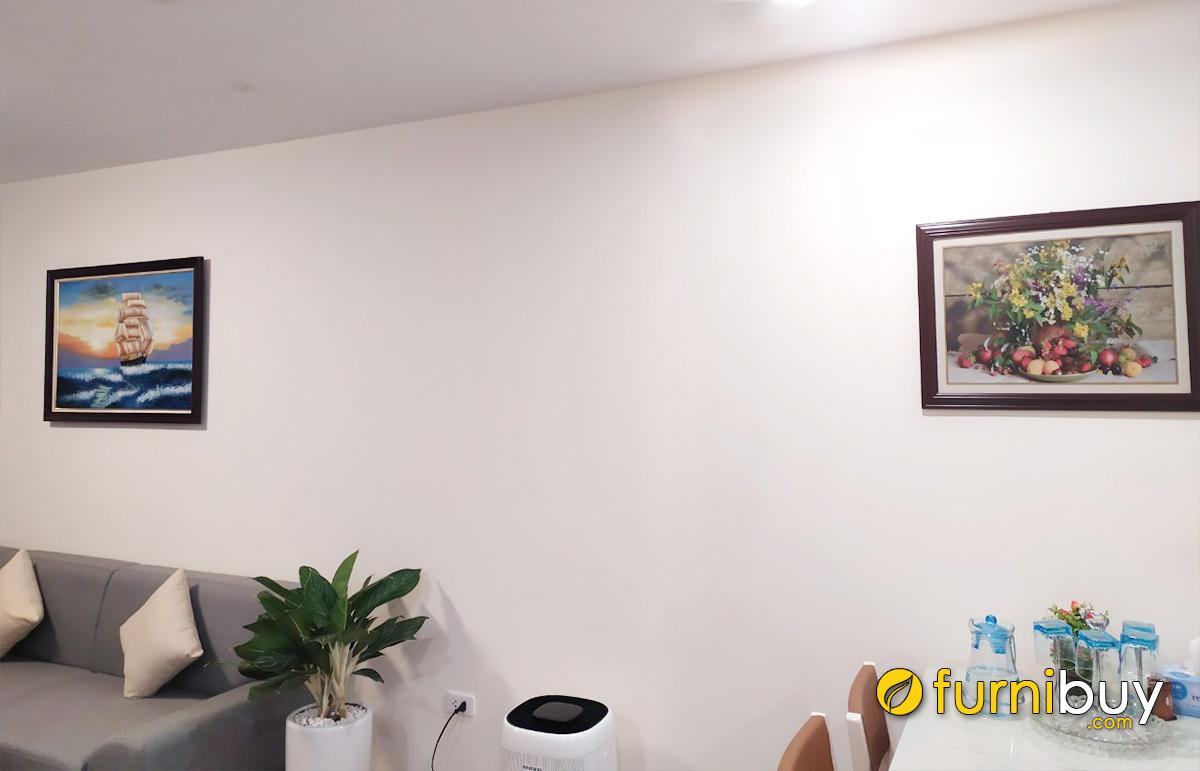Hình ảnh Tranh treo tường phòng khách thông phòng ăn đẹp