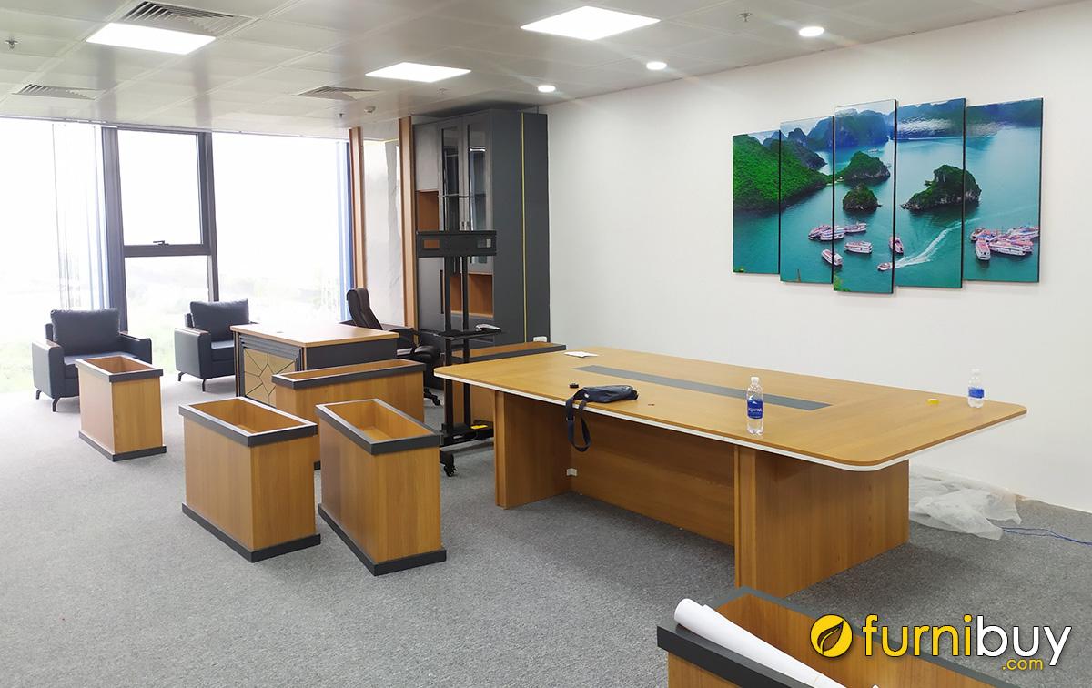 Hình ảnh Tranh Vịnh Hạ Long khổ lớn treo tường văn phòng làm việc