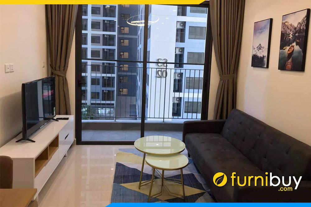 hình ảnh Tủ tivi phòng khách màu trắng đẹp tại chung cư An Cường