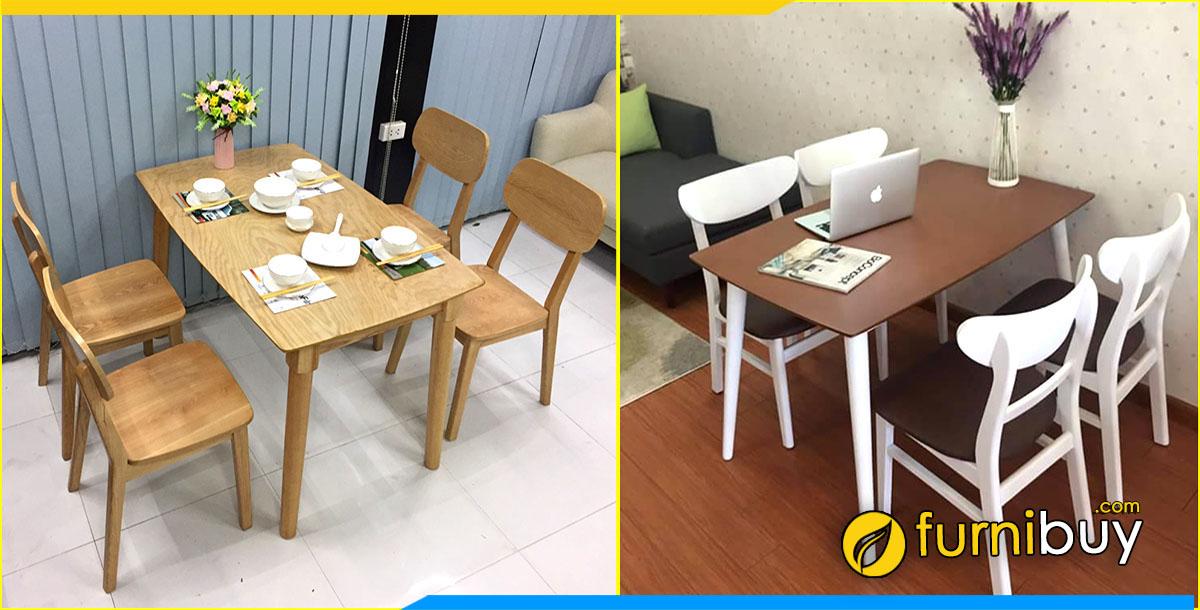 Xưởng đóng bàn ăn 4 ghế theo yêu cầu ở Hà Nội