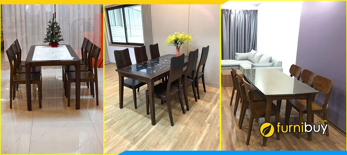 Xưởng gỗ đóng bàn ăn đẹp Hà Nội theo yêu cầu