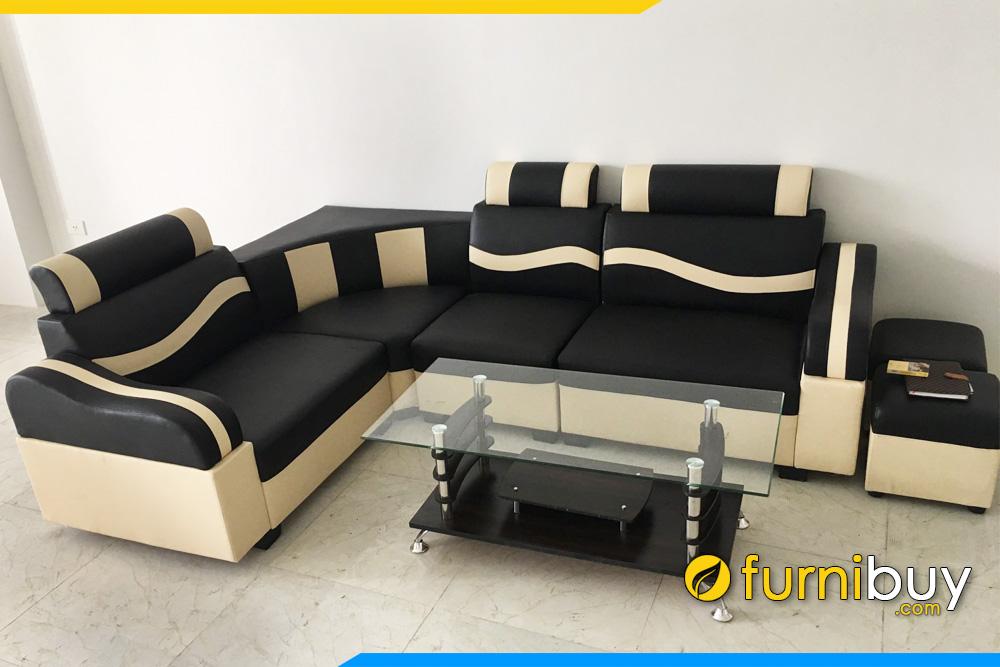 Bo sofa da dep gia re ke phong lam viec cua hàng FB029