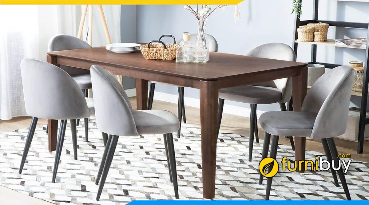 Mẫu bàn ghế ăn giá rẻ Hà Tĩnh đặt đóng theo yêu cầu tại Furnibuy