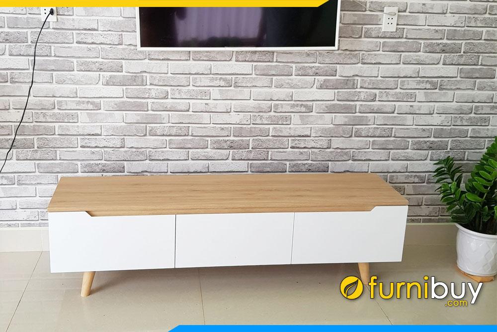 Hình ảnh Kệ ti vi gỗ phòng khách đẹp kích thước 1m8 FBK011
