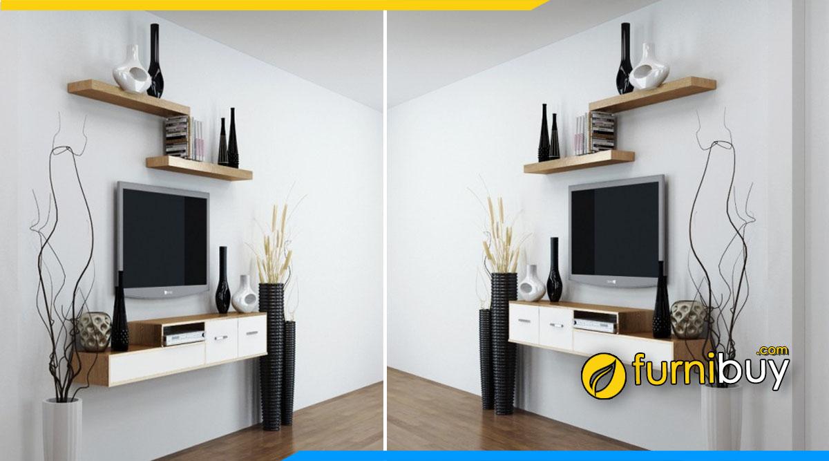 Hình ảnh Kệ tivi trang trí phòng khách đẹp giá rẻ 2 ngăn kéo