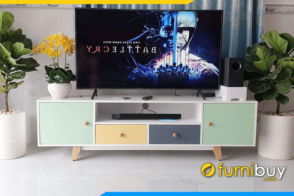 Hình ảnh Bộ kệ tivi đơn giane giá rẻ FBK010 kiểu dáng hiện đại