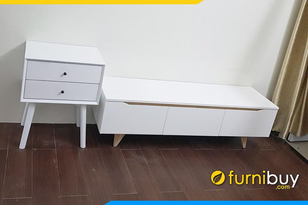 Hình ảnh Kệ tivi phòng khách kết hợp tủ đựng đồ mini FBK011