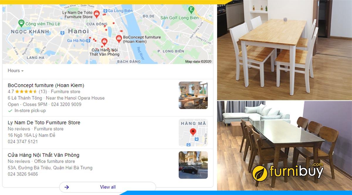 Gợi ý các cửa hàng bàn ghế ăn tại quận Hoàn Kiếm